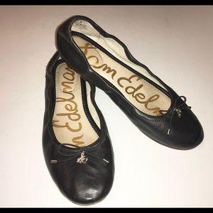 Sam Edelman Shoes - SAM EDELMAN black leather Felicia flats